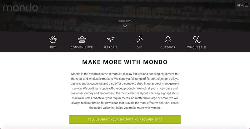 Mondo website content