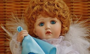 Crying doll with handkerchief