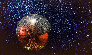 Glitter ball or disco ball