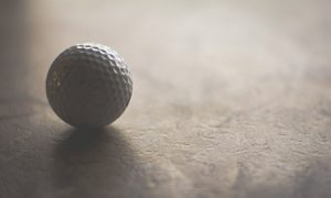 golf ball with dents