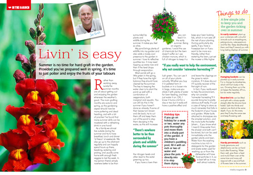 Vitality magazine spread