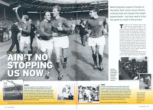 PFA centenary book spread